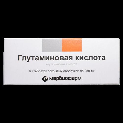 Глутаминовая кислота 250мг таблетки №60