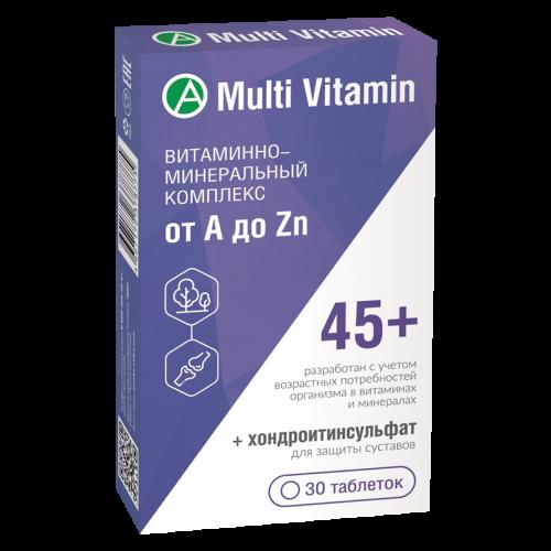 Витаминно-минеральный комплекс от A до Zn 45+ таблетки №30