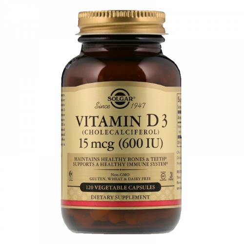 Солгар Витамин Д3 600МЕ капсулы №120
