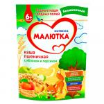 Малютка Каша безмолочная Пшеничная/яблоко/персик 200г