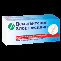 Крем для лица и тела с Д-пантенолом и хлоргексидином 50мл