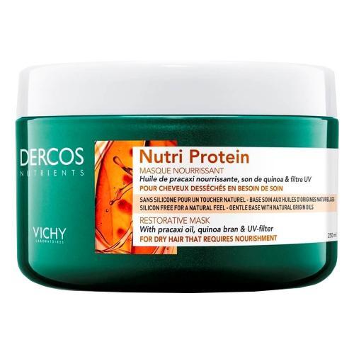 VICHY DERCOS NUTRIENTS Nutri Protein Восстанавливающая маска для секущихся и поврежденных волос 250 мл