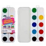 Акварель детская 10 цветов медовая пластиковая коробка
