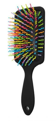 Бьюти Стайл Щетка для волос Цветные зубчики прямоугольная