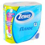 Туалетная бумага Зева Плюс 2слоя 4 рулона белая