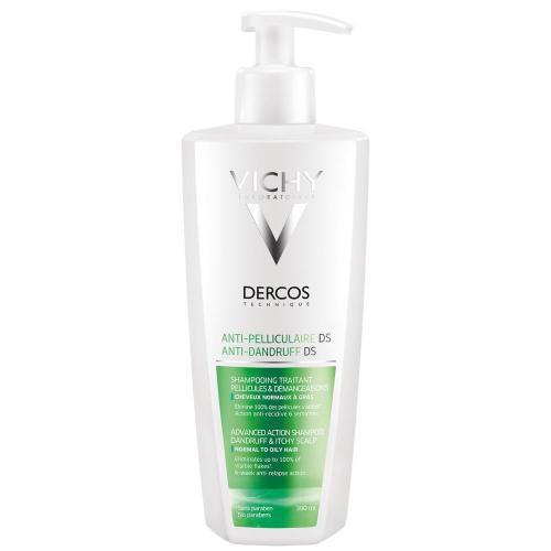 VICHY DERCOS Интенсивный шампунь-уход против перхоти для нормальных и жирных волос, 390мл