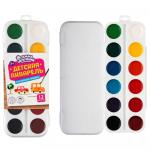Акварель детская 12 цветов медовая пластиковая коробка