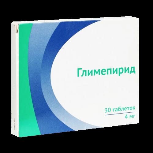 Глимепирид таблетки 4мг №30