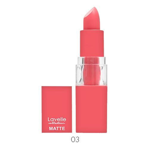 Lavelle Collection Помада для губ матовая кораллово- розовый Тон 03