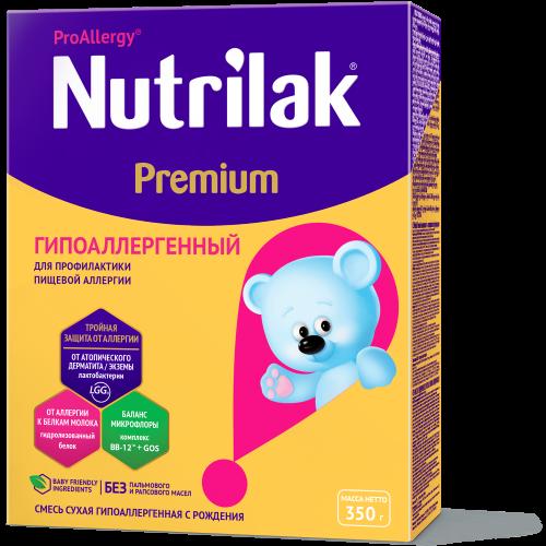 Нутрилак Премиум Гипоаллергенный Смесь молочная с рождения профилактика и лечение пищевой аллергии 350г