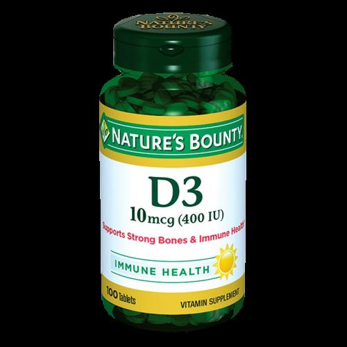 Нэйчес Баунти/Nature's Bounty Витамин D капсулы 400МЕ №100