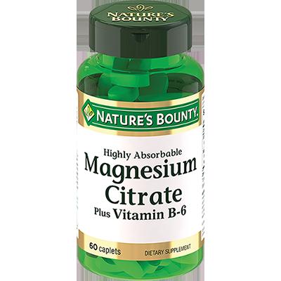 Нэйчес Баунти/Nature's Bounty Цитрат магния с витамином В таблетки №60