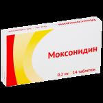 Моксонидин таблетки 0,2мг №14
