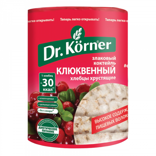 Хлебцы Доктор Кёрнер злаковый коктейль Клюква 100гр
