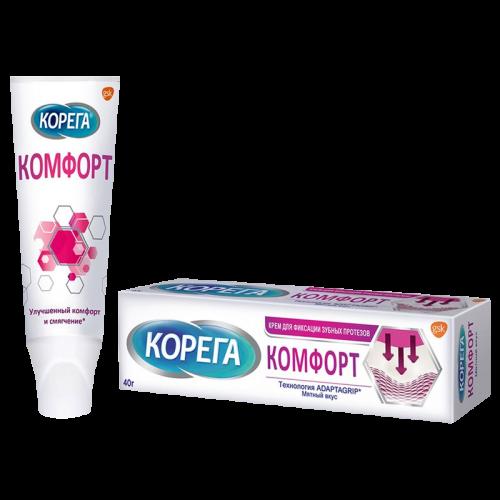 Корега Крем для фиксации протезов Максимальный Комфорт 40г