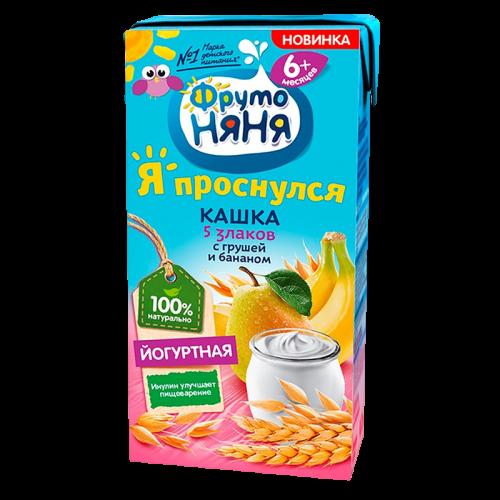 ФрутоНяня Каша молочная Йогуртная 5 Злаков/груша/банан 200г
