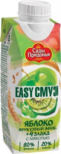 Сады Придонья Коктейль-Смузи яблок,киви,винограда,лимона,злаков 250мл