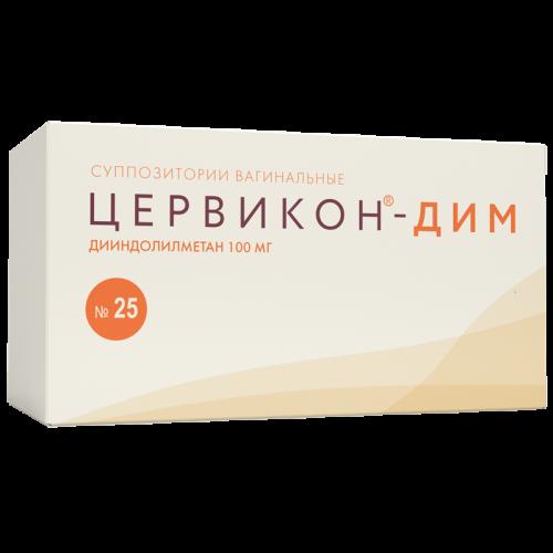 Цервикон-Дим суппозитории вагинальные 100мг №25