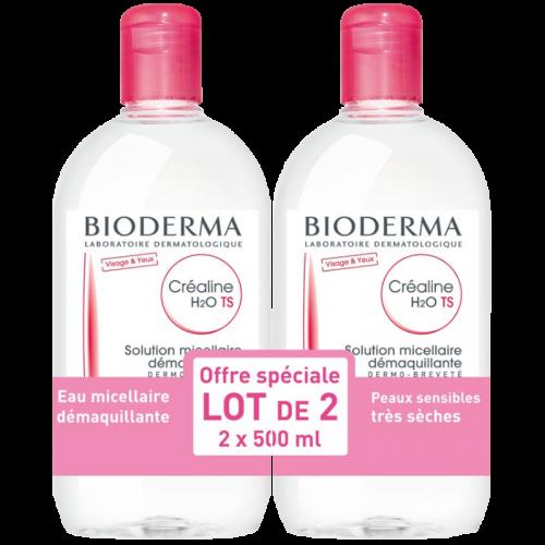Биодерма Сенсибио H2O Вода мицеллярная 500мл*2 промо