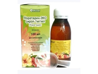 Лоратадин-Эко сироп 5мг/5мл фл. 100мл