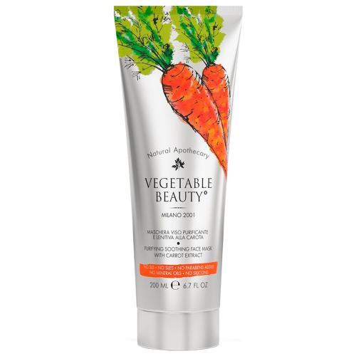 Веджетебл Бьюти Маска для лица очищающая успокаивающая с экстрактом моркови 200мл