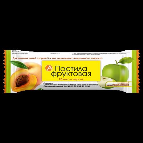 Фруктовая пастила яблоко-персик для детей с 3-х лет 27г