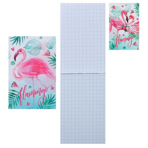 Блокнот Фламинго А7 65*100 48л