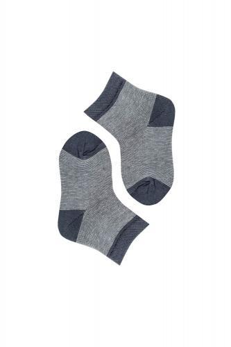 Носки детские темно-серые в полоску р. 35-38 ( 22-24 см )