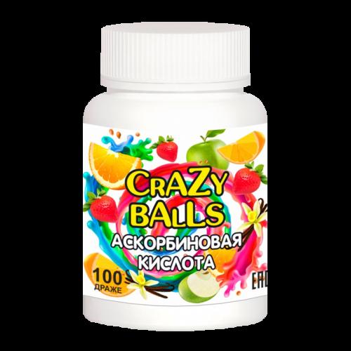 Аскорбиновая кислота Crazy balls микс вкусов драже №100