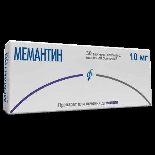 Мемантин таблетки 10мг №30