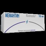 Мемантин таблетки 10мг №90