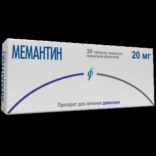Мемантин таблетки 20мг №30