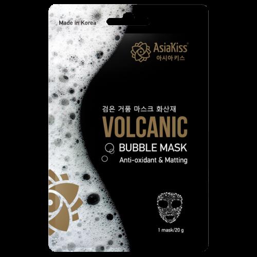 Азия Кисс Черная пузырьковая маска для лица с вулканическим пеплом