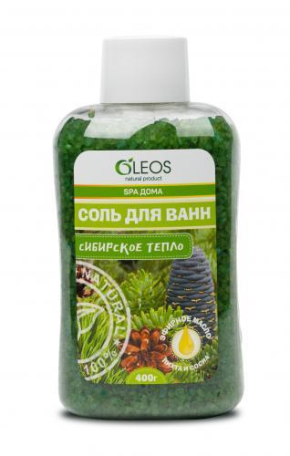 Соль для ванн морская Сибирское тепло 400г