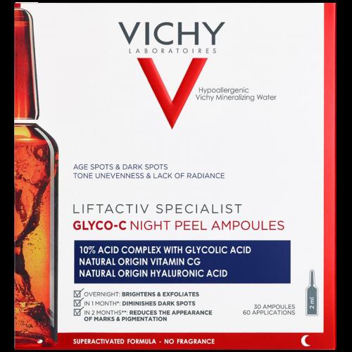VICHY LIFTACTIV Glyco-c cыворотка - пилинг ночного действия в ампулах, 30 шт.