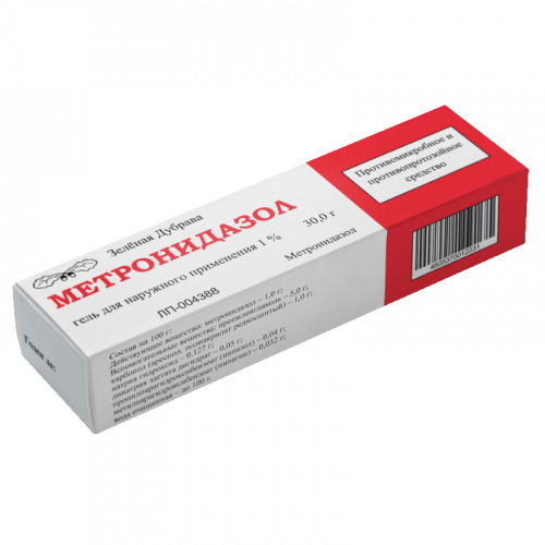 Метронидазол гель 1% 30г