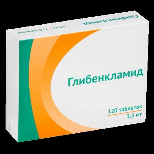 Глибенкламид таблетки 3,5мг №120