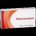 Моксонидин таблетки 0,4мг №14