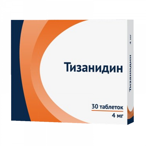 Тизанидин таблетки 4мг №30
