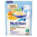 Нутрилон Каша молочная Кукурузная абрикос и банан 200г