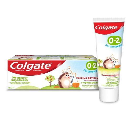 Колгейт Зубная паста для детей от 0-2 лет Нежные фрукты, без фторида 40мл
