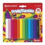 Пластилин 12 цветов 200гр классический Высшее качество
