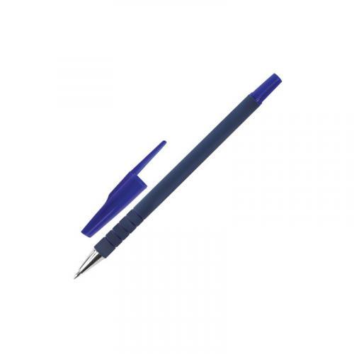 Ручка шариковая Staff 0,7мм корпус прорезиненный синяя