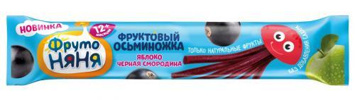 ФрутоНяня Фруктовые кусочки Яблоко/черная смородина Осьминожка 16г