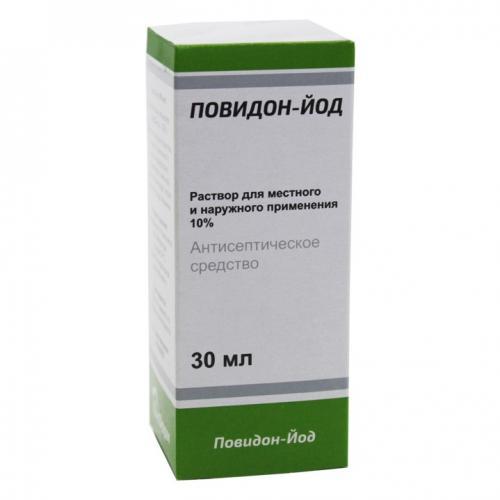 Повидон-Йод раствор для местного и наружного применения 10% фл. 30мл