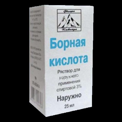 Борная кислота раствор 3% флакон 25мл