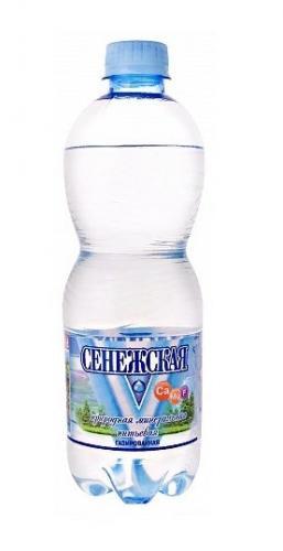 Сенежская Вода питьевая минеральная газированная 0,5л