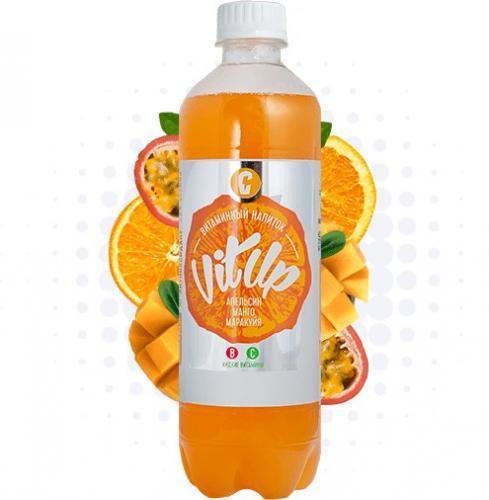 Вит Ап Витаминизированный напиток Апельсин Манго Маракуйя газированный 0,5л