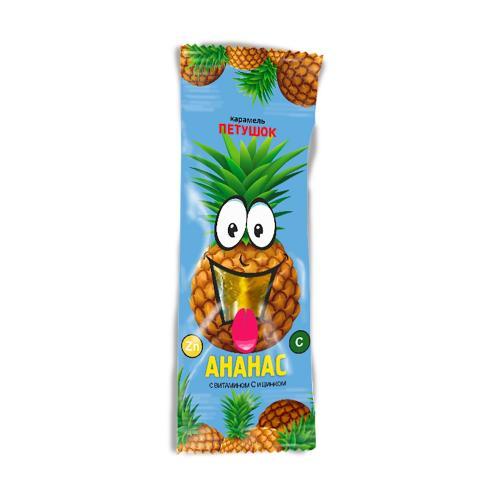 Леденец Петушок с витамином С и Цинком со вкусом ананаса 17г
