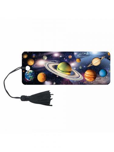 Закладка для книг Вселенная с декоративным шнурком